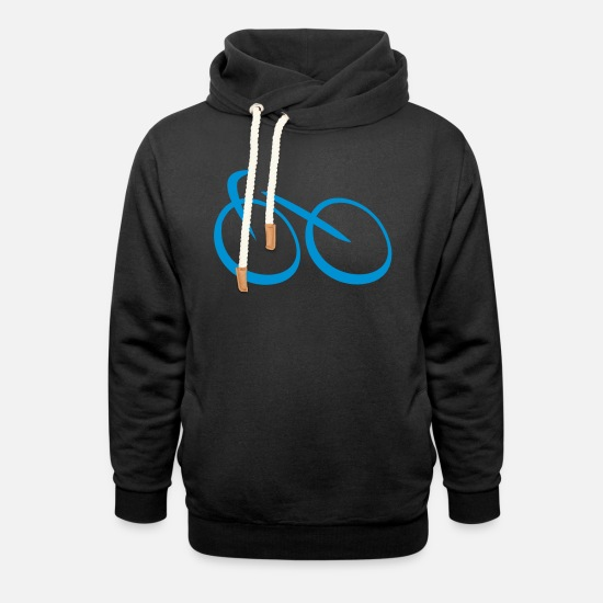 Bicycle Hoodies & Sweatshirts - bicycle - Unisex Shawl Collar Hoodie black