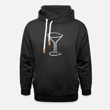 Wine Glasses Glass of wine glass of wine - Unisex Shawl Collar Hoodie