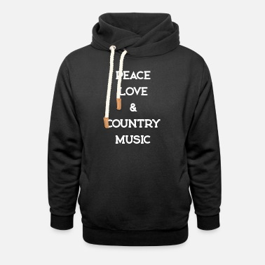 Countrymusic PEACE LOVE COUNTRYMUSIC - Unisex Shawl Collar Hoodie