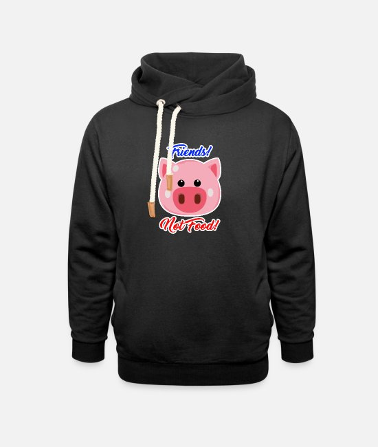 Bless You Hoodies & Sweatshirts - Animals are friends no food vegan animal welfare - Unisex Shawl Collar Hoodie black
