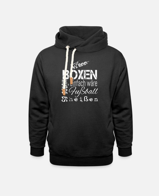 Fighter Hoodies & Sweatshirts - boxer - Unisex Shawl Collar Hoodie black