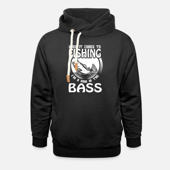 Bass Hoodies & Sweatshirts - fishing bass - Unisex Shawl Collar Hoodie black