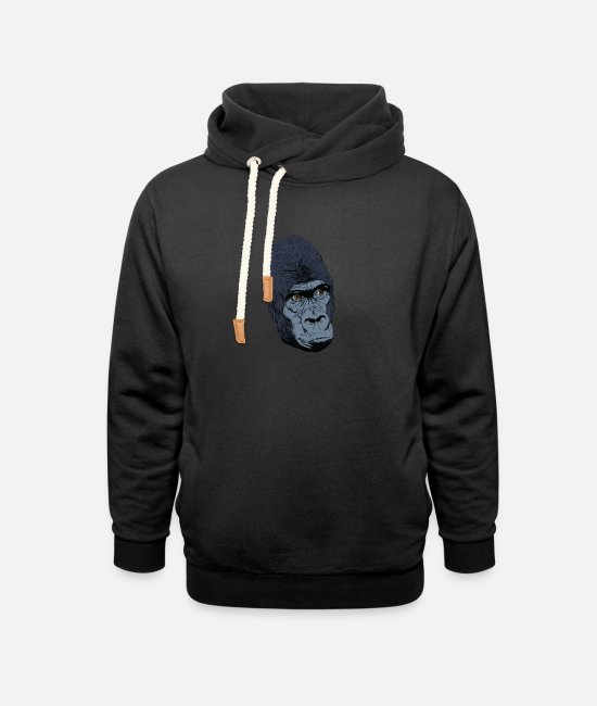 Easter Hoodies & Sweatshirts - Gorilla monkey head t-shirt for fans and lovers - Unisex Shawl Collar Hoodie black