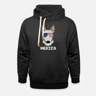 Staffordshire Bull Terrier Patriotic America Bull Terrier Dog Owner Gift - Unisex Shawl Collar Hoodie