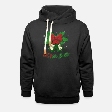 Funny Christmas saying gin long drink gift - Unisex Shawl Collar Hoodie