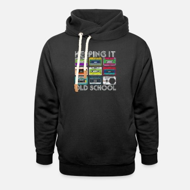 Tape Cassette Tape Mixtape Retro Music 80s and 90s Hip - Unisex Shawl Collar Hoodie