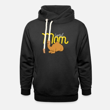 Camel Camel Mom - Gift For Mom - Camel Lover Gift - Unisex Shawl Collar Hoodie