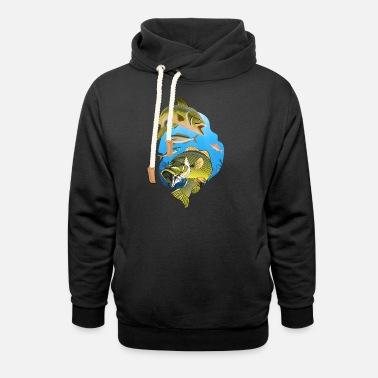 Angler Clothing Angler clothing Angler Fish species Fish - Unisex Shawl Collar Hoodie