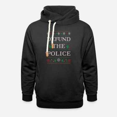 Defund the police ugly christmas sweater - police - Unisex Shawl Collar Hoodie