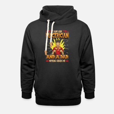 Light Bulb Electrician Electricity Father's Day Dad Funny Gift - Unisex Shawl Collar Hoodie
