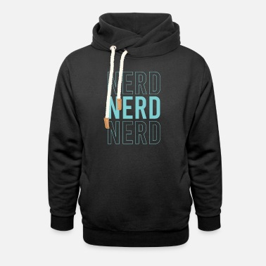 Noob Nerd cool saying nerd - Unisex Shawl Collar Hoodie