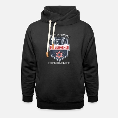 Prison Stupid People Corrections Officer Thin Silver Line - Unisex Shawl Collar Hoodie