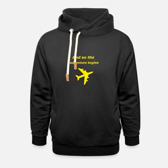Gift Idea Hoodies & Sweatshirts - ADVENTURES | ADVENTURE - Unisex Shawl Collar Hoodie black