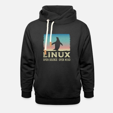 Open Source Linux - Open Source Open Mind - Unisex Schalkragen Hoodie
