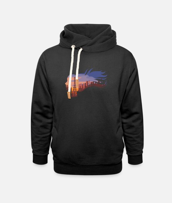 Eiffel Tower Hoodies & Sweatshirts - Paris Paris Paris Paris Eiffel Tower - Unisex Shawl Collar Hoodie black