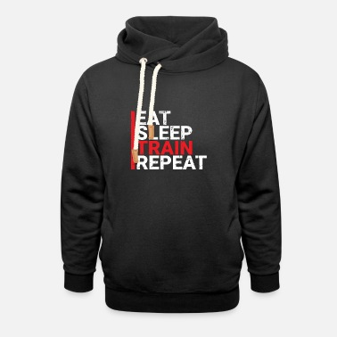 Train Eat Sleep Train Repeat - Unisex Shawl Collar Hoodie