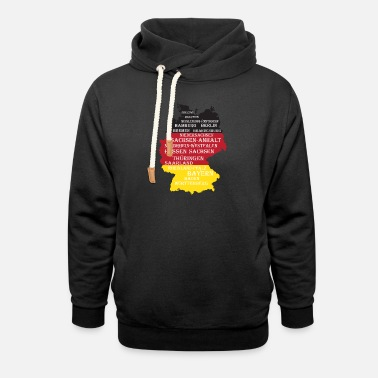Federal State Federal States Germany flag borders - Unisex Shawl Collar Hoodie
