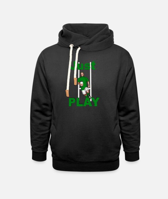 Ireland Rugby Hoodies & Sweatshirts - RUGBY Just Play - Unisex Shawl Collar Hoodie black