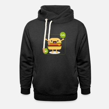 Cute cute hamburger - Unisex Shawl Collar Hoodie