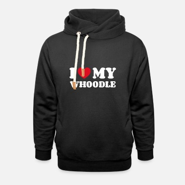 Walking I love my whoodle - Unisex Shawl Collar Hoodie