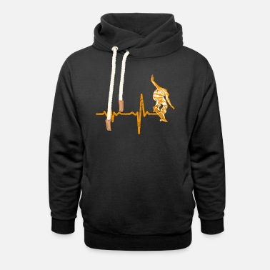 Skate pattinatori regalo Heartbeat - Felpa con colletto alto unisex