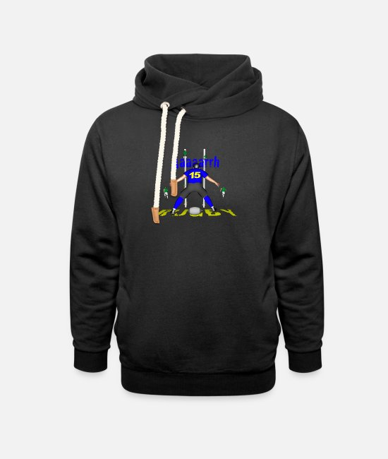 Lyon Rugby Toulousain Hoodies & Sweatshirts - RUGBY 15 BLUE players - Unisex Shawl Collar Hoodie black