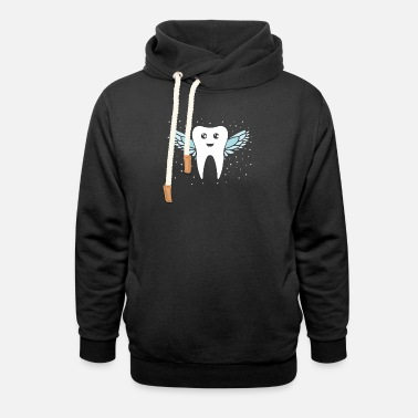 Tooth Tooth fairy tooth - Unisex Shawl Collar Hoodie