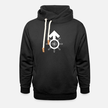 Maritime Masculinity Symbol Compass Gender - Unisex Shawl Collar Hoodie