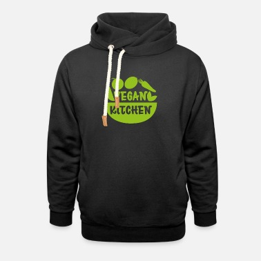 Vegan Kitchen Cooking Meat Free Gift - Unisex Shawl Collar Hoodie