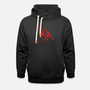 Gaier The Gaier 2 Red - Unisex Shawl Collar Hoodie
