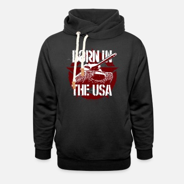 World Of Tanks Blitz Born In The USA Star - Unisex Shawl Collar Hoodie