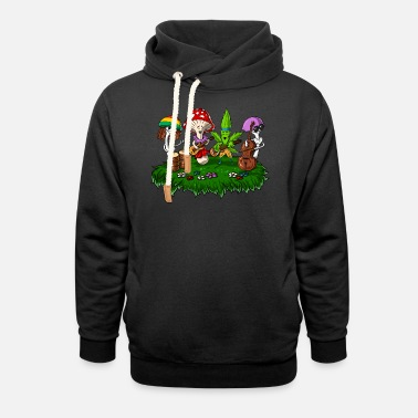 Festival Hippie Mushrooms Psychedelic Festival - Unisex Shawl Collar Hoodie