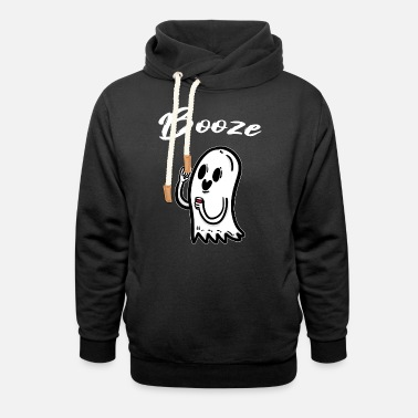 Ghost Party Beer Alcohol Halloween Scary - Unisex Shawl Collar Hoodie
