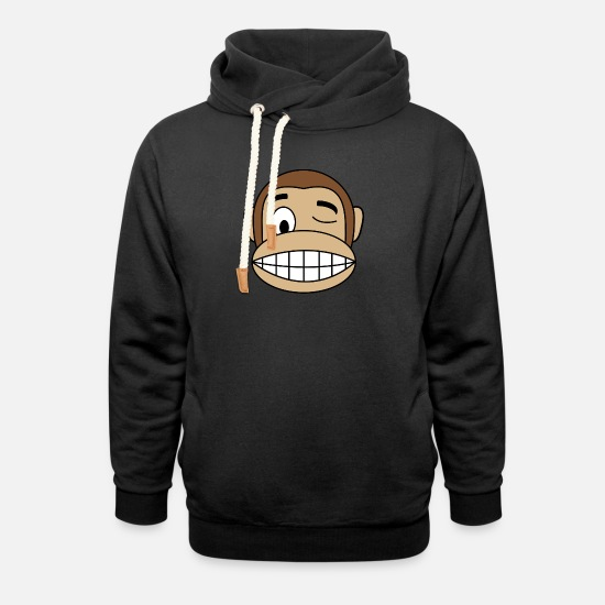 Monkey Hoodies & Sweatshirts - Monkey collection - Unisex Shawl Collar Hoodie black