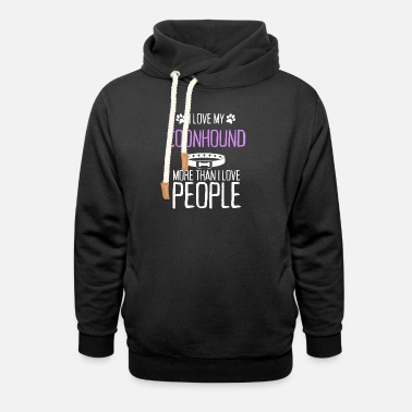 Best Match I Love My Coonhound More Than I Love People - Unisex Shawl Collar Hoodie