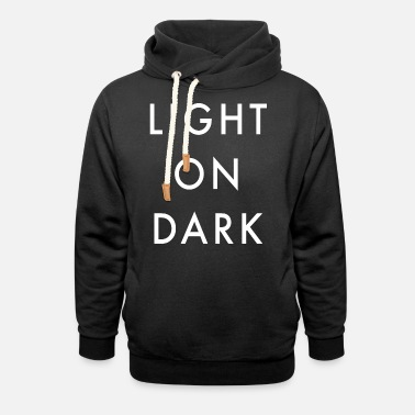 Dark Humour Light On Dark Background - Unisex Shawl Collar Hoodie