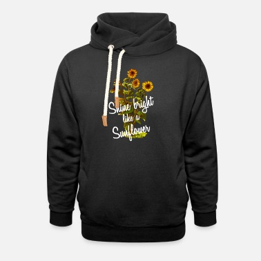 Diamond Sunflower Quote - Shawl Collar Hoodie
