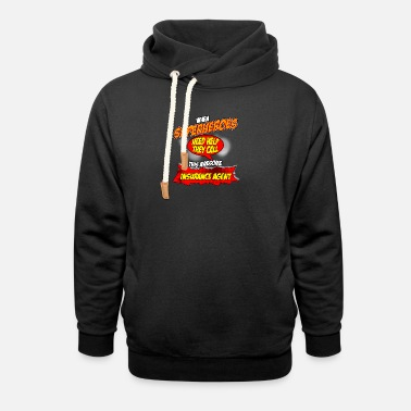 Funny Insurance Agent Superhero gift funny insurance agent - Unisex Shawl Collar Hoodie