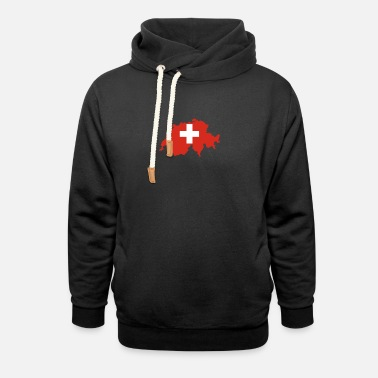 swiss - Felpa con colletto alto unisex