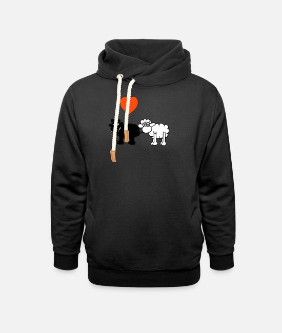 Heart Hoodies & Sweatshirts - Bad black Sheep - Unisex Shawl Collar Hoodie black