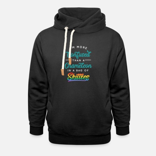Illustration Hoodies & Sweatshirts - Cool & Confusing Tshirt Design Chameleon humour - Unisex Shawl Collar Hoodie black