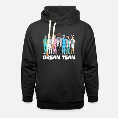 System Doctor team assistant doctor doctor specialist nurse - Unisex Shawl Collar Hoodie