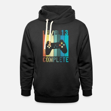 Teenager Teenage 13th Birthday - Level Complete Gamer - Sweat à capuche cache-cou unisexe