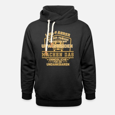 funny truck driver shirt or truck driver gift - Unisex Shawl Collar Hoodie