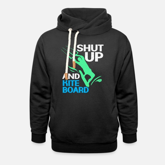 Aquatics Hoodies & Sweatshirts - Kiteboard - Unisex Shawl Collar Hoodie black