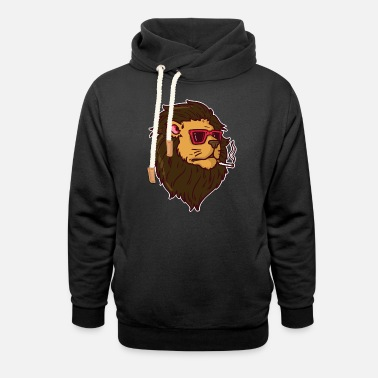 Smoking Smoking Lion | Lion with cigarette - Unisex Shawl Collar Hoodie