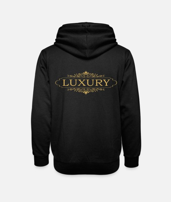 Glamour Hoodies & Sweatshirts - Luxury - Unisex Shawl Collar Hoodie black