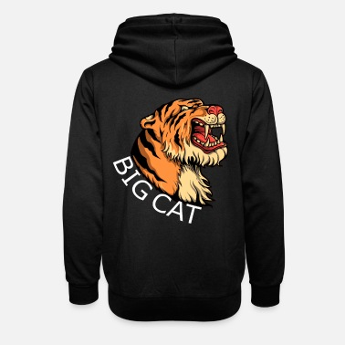 Big Cats The tiger big cat wildcat big cat - Unisex Shawl Collar Hoodie