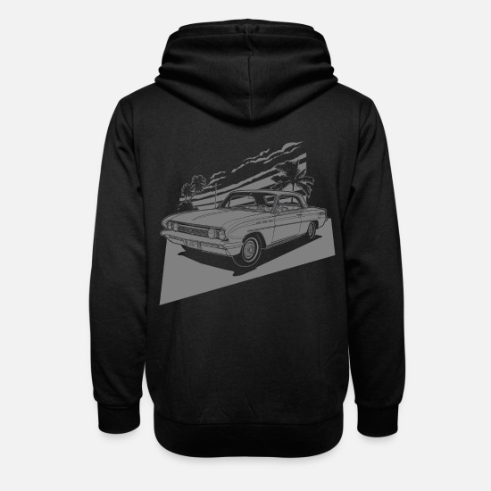 Bikes Hoodies & Sweatshirts - vintage car neg. - Unisex Shawl Collar Hoodie black