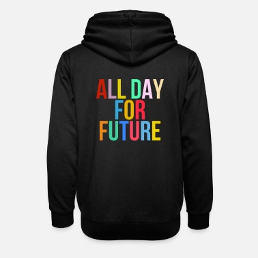 All Day For Future - Fridays For Future - Unisex Schalkragen Hoodie